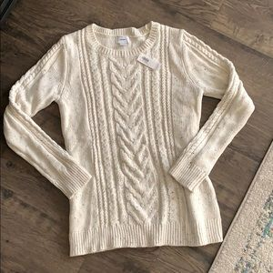Old Navy Cream Cable Knit Sweater